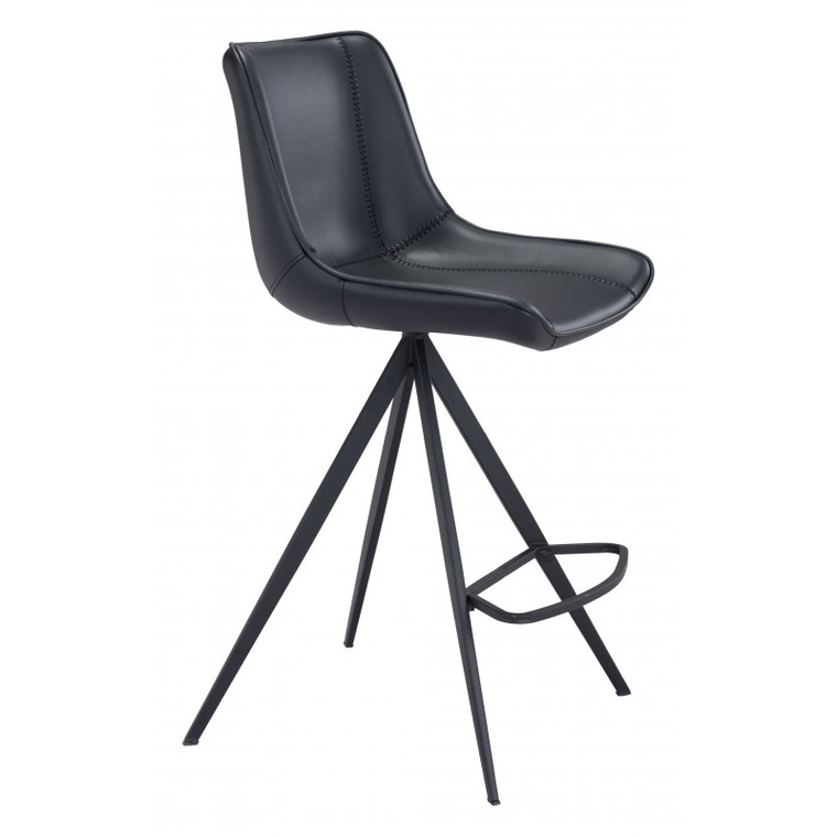 Zuo Aki Counter Chair Black (Set of 2) 101394