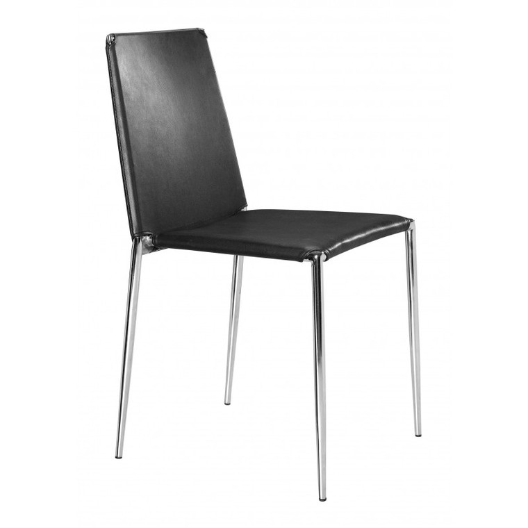 Zuo Alex Dining Chair Black (Set of 4) 101105