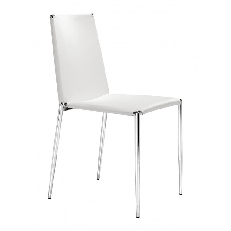 Zuo Alex Dining Chair White (Set of 4) 101106