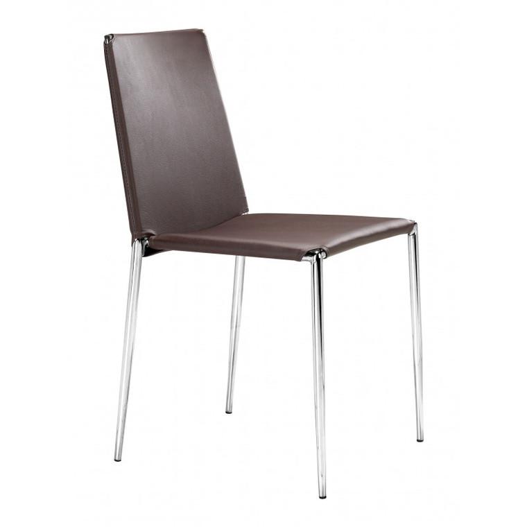 Zuo Alex Dining Chair Espresso (Set of 4) 101107