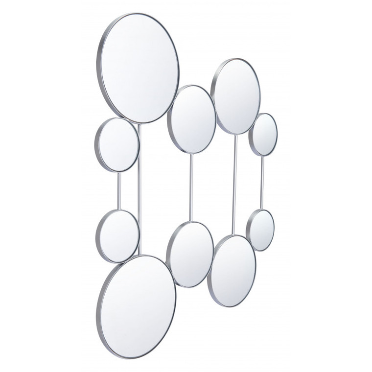 Zuo Cery Round Mirrors Silver A11996