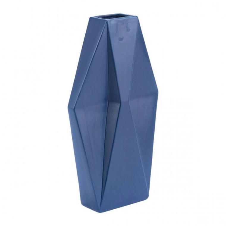 Zuo Angle Lg Vase Matte Blue A11574