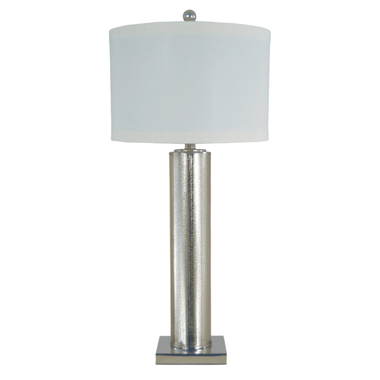 Thumprints Genesis Table Lamp in Mercury Glass / Polished Nickel