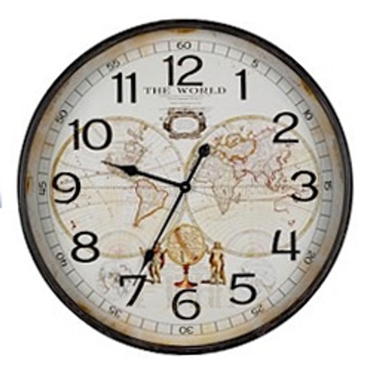 Cooper Classics World Map Clock 40921