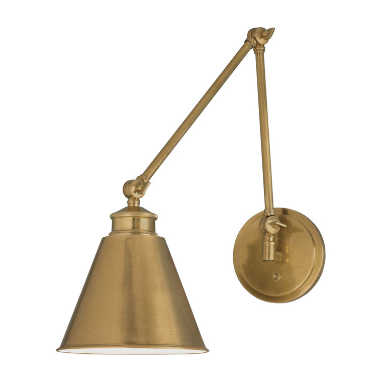Norwell Lighting Aidan Moveable Sconce 1 Light in Aged Brass 8475-AG-MS