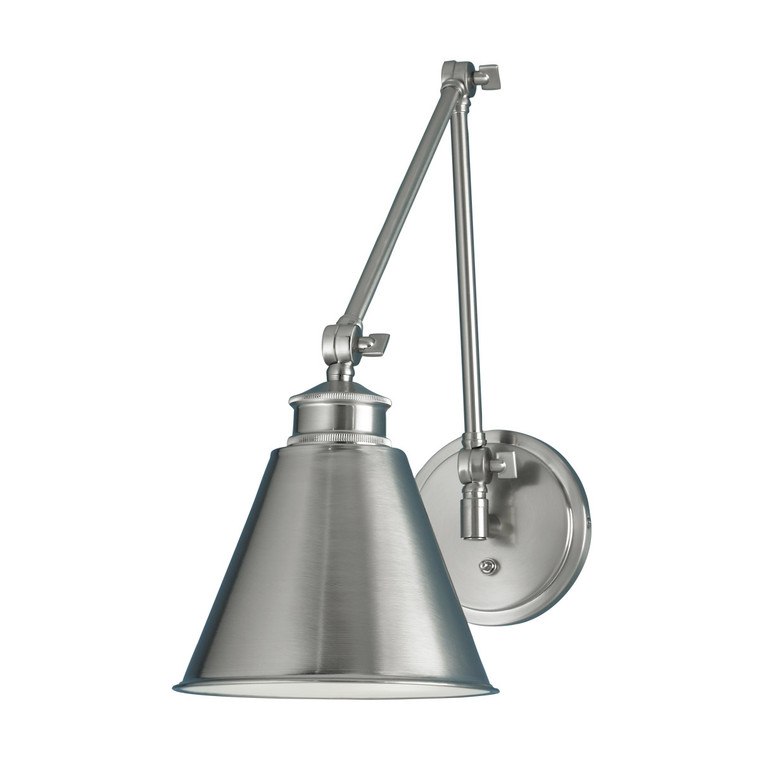 Norwell Lighting Aidan Moveable Sconce 1 Light in Brush Nickel 8475-BN-MS