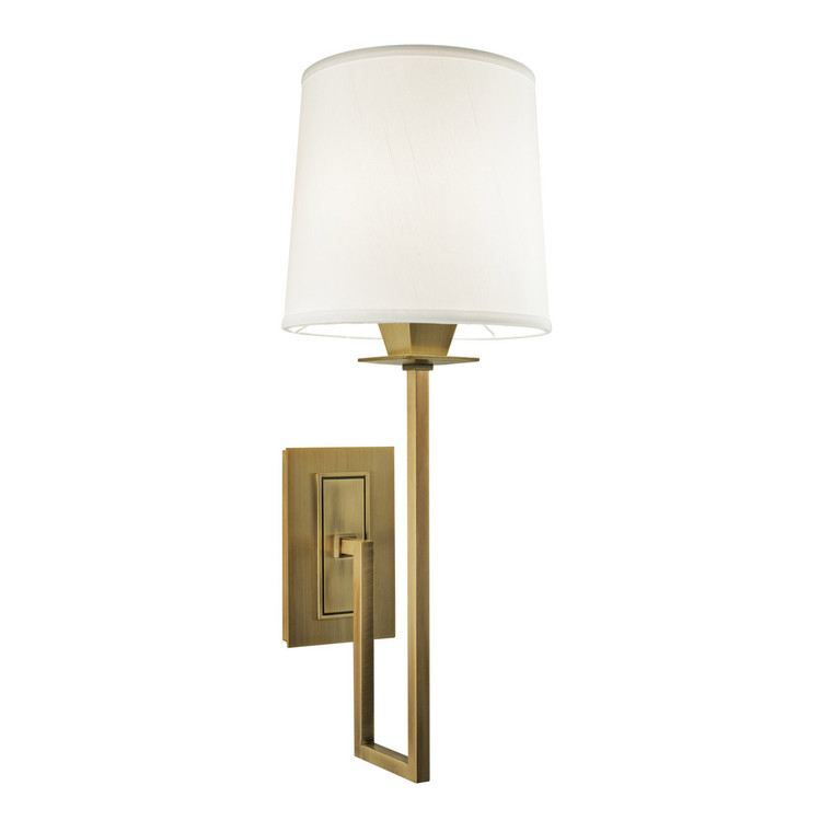 Norwell Lighting Maya Single Sconce 1 Light in Aged Brass 9675-AG-WS