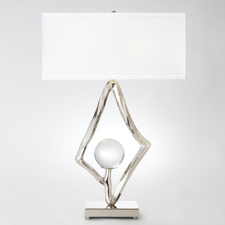 Global Views Abstract Lamp 6 inch Crystal Sphere-Nickel 9.92529