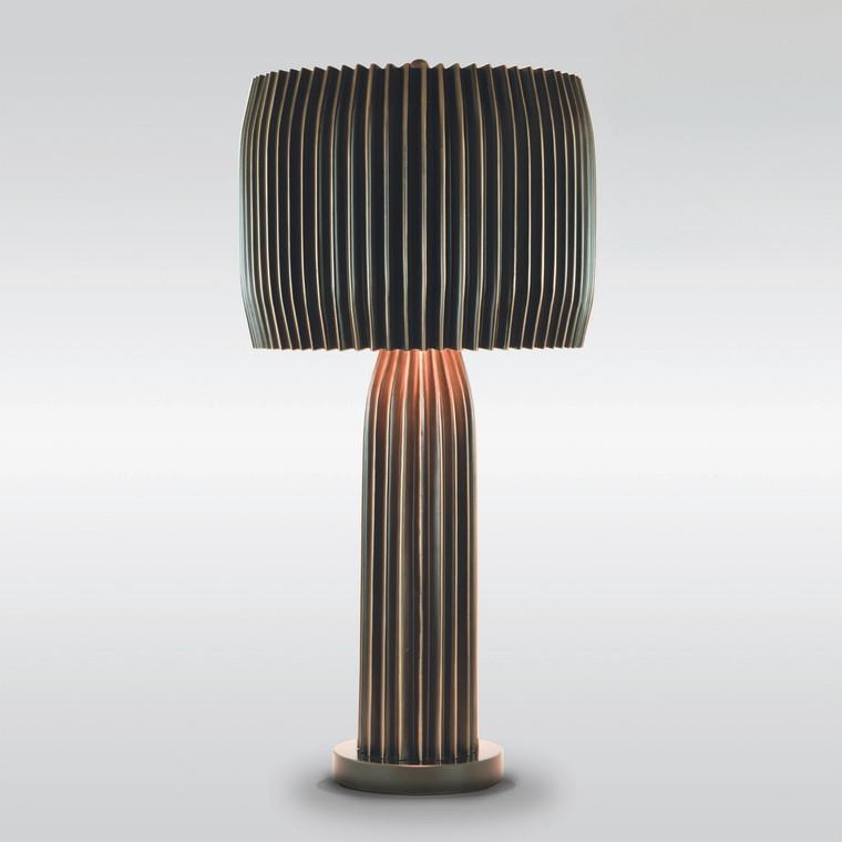 Global Views Crimp Table Lamp-Bronze 7.90177