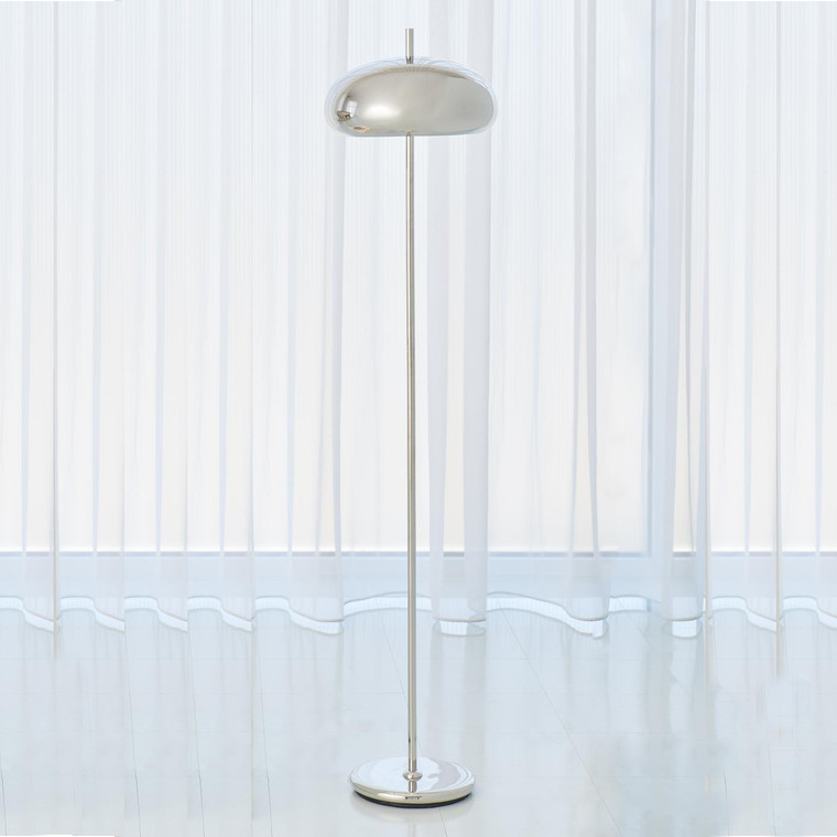 Global Views Dome Floor Lamp-Nickel 9.93052