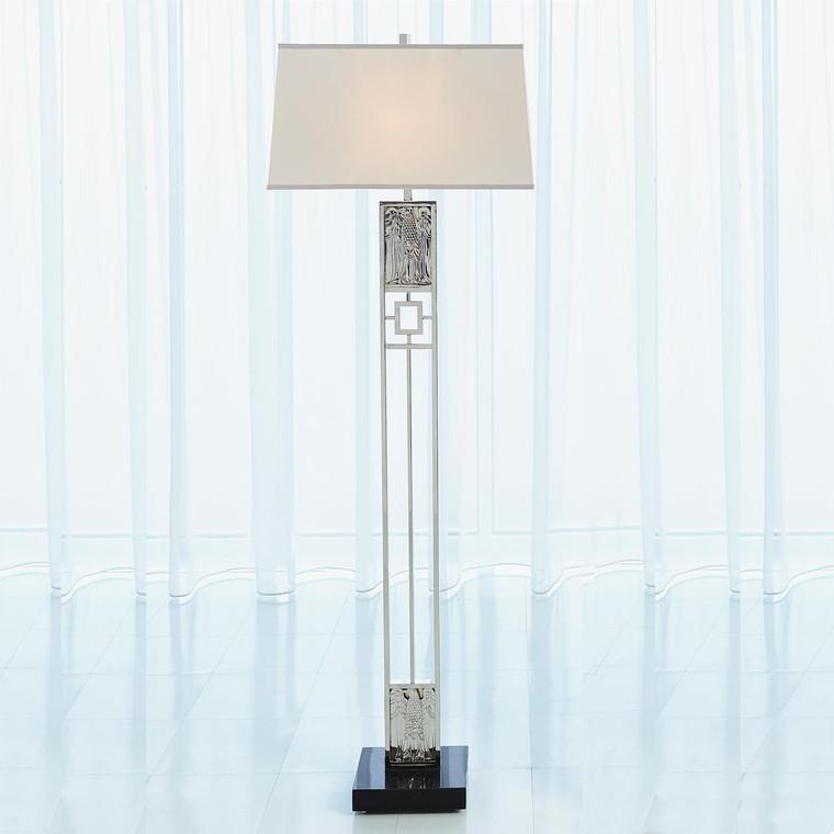 Global Views Republic Floor Lamp-Nickel 9.93397