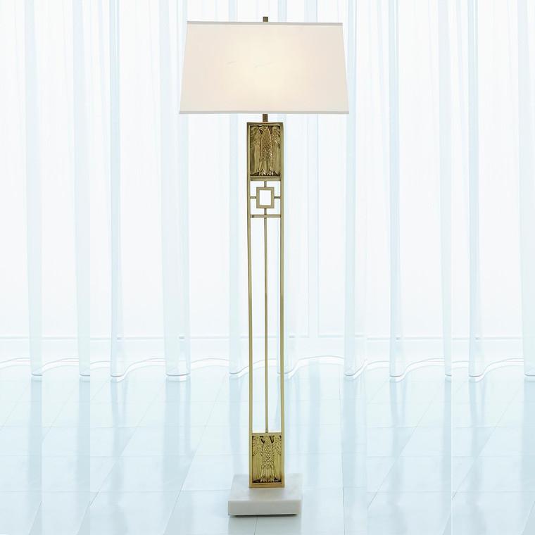 Global Views Republic Floor Lamp-Brass 9.93396