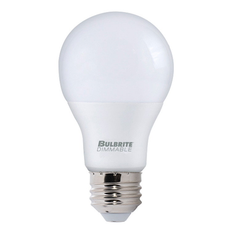 Bulbrite: 774007 LED A-Type Dimmable: A19, A21 Watts: 9 - LED9A19/830/D/2-C (12 Pack)