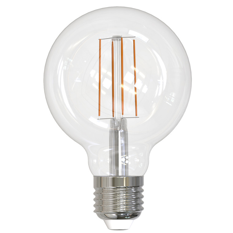Bulbrite: 776775 LED Filaments: Fully Compatible Dimming, Clear Watts: 8.5 - LED8G25/27K/FIL/3 (10 Pack)