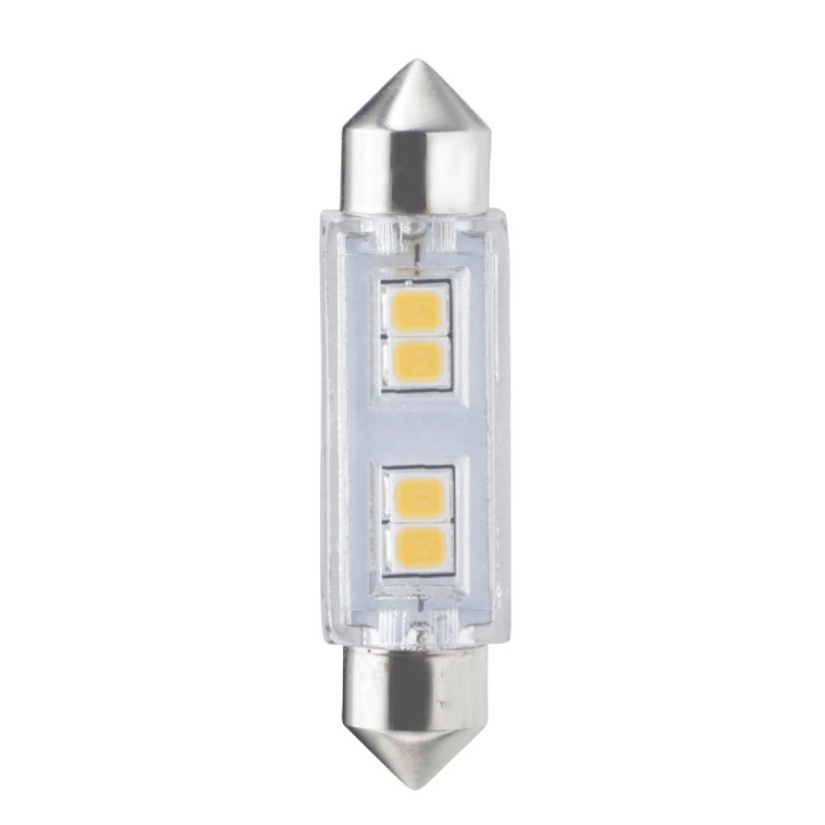Bulbrite: 770612 LED Specialty Minis 12V/24V: Festoon, Wedge Watts: 0.8 - LED1/FEST/27K/12/2 (5 Pack)