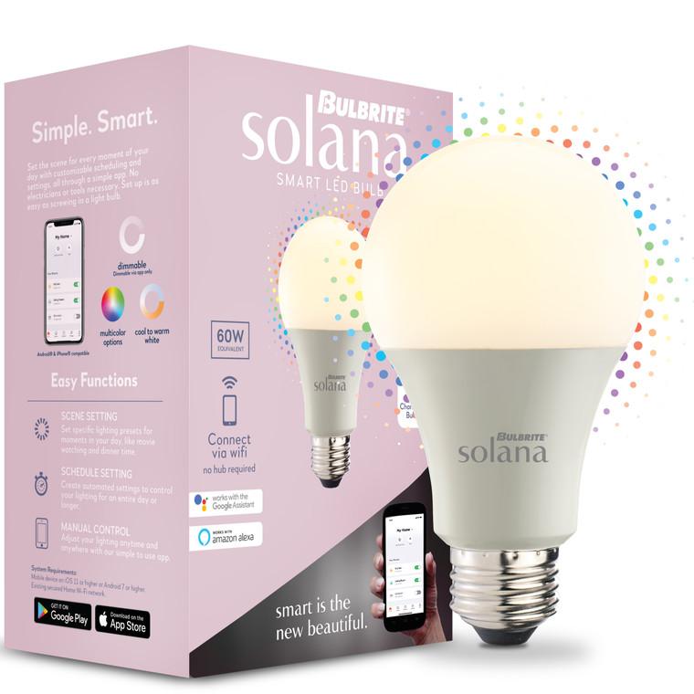 Bulbrite Solana 195120 SMART LED SMART LED Tunable White & Colors: A19 Watts: 8 - SL8WA19/WC/FR/1P (1 Pack)