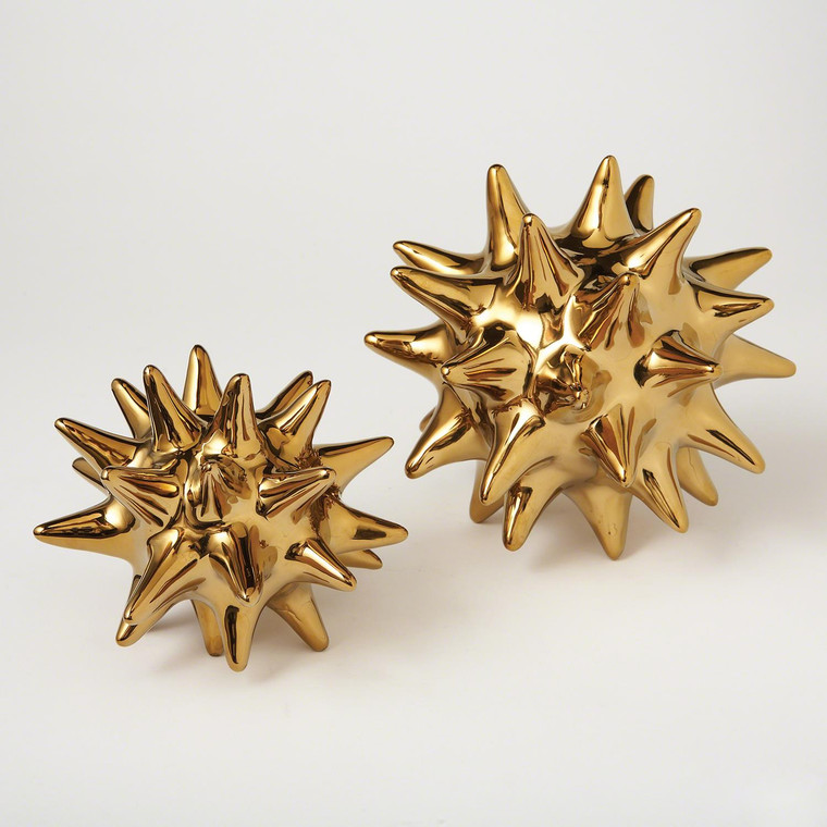 Global Views Urchin-Bright Gold Small D8.80092