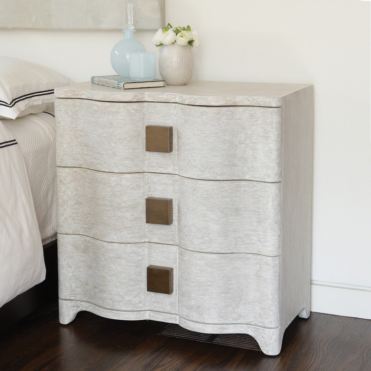 Global Views Toile Linen Bedside Chest 7.20053