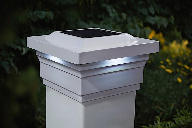 Classy Caps 5X5 White PVC Majestic Solar Post Cap SLO75W