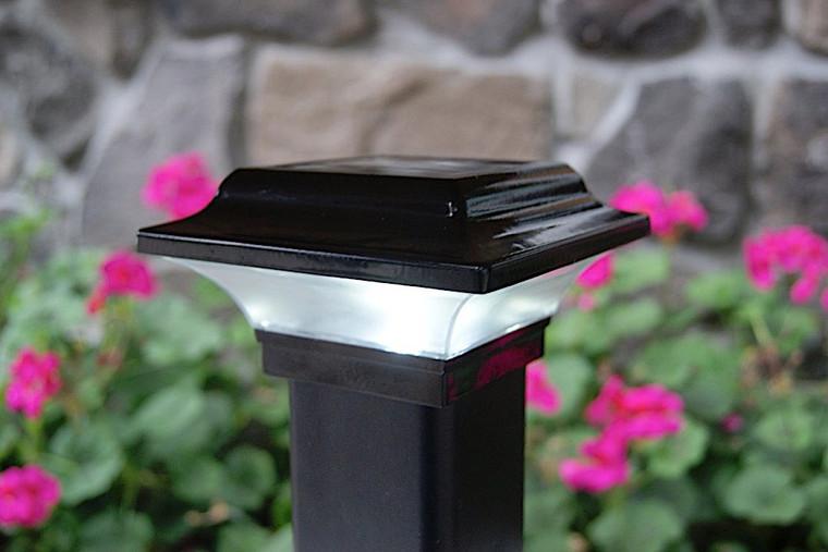 Classy Caps 2.5X2.5 Black Aluminum Imperial Solar Post Cap SLO82B