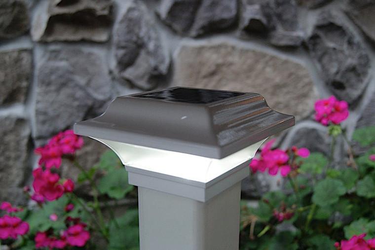 Classy Caps 2.5X2.5 White Aluminum Imperial Solar Post Cap SLO82W