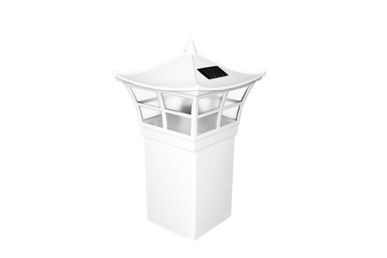 Classy Caps 5X5 White PVC Ambience Solar Post Cap SLO92