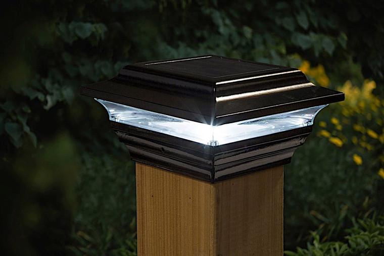 Classy Caps 4X4 Black Aluminum  Imperial Solar Post Cap SL211B