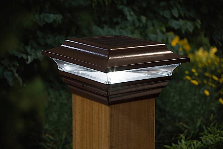 Classy Caps 4X4 Bronze Aluminum  Imperial Solar Post Cap SL211R