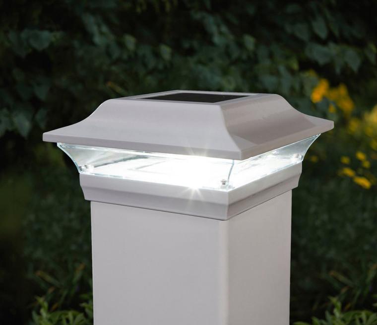 Classy Caps 5X5 White Aluminum Imperial Solar Post Cap SL214W