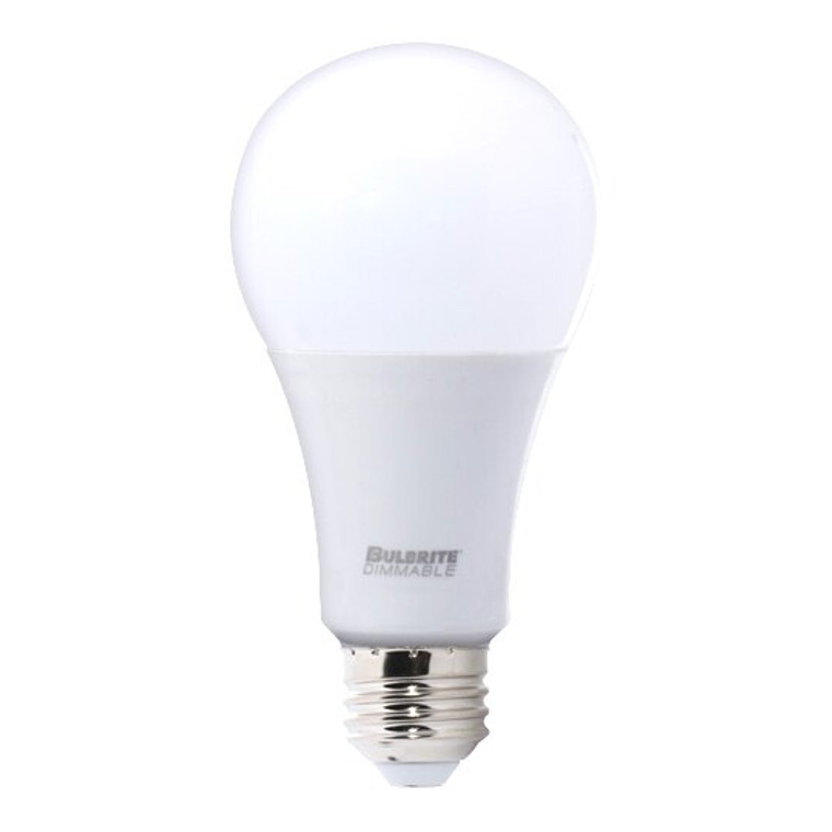 Bulbrite: 774125-1 LED A-Type Dimmable: A21 Watts: 16  = 100 Watt Equivalent  Very Bright Premium bulb- LED16A21/830/D/2 (1 Pack)