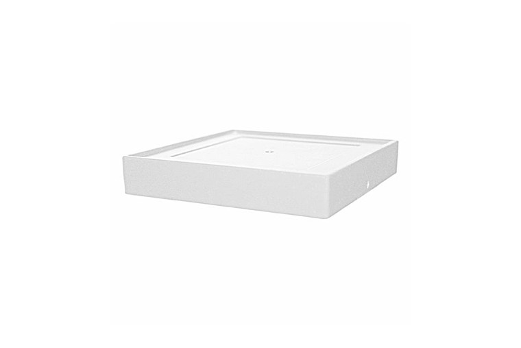 Classy Caps 4.5X4.5 Base Imperial Aluminum - White TRA45W