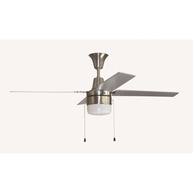 "Craftmade  48"" Connery Ceiling Fan in Brushed Polished Nickel CON48BNK4C1-48BN"