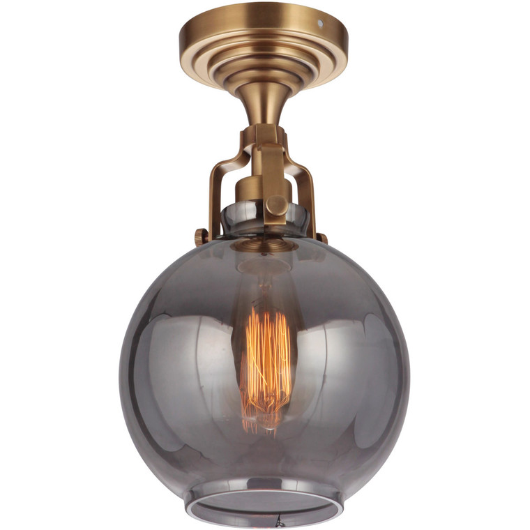 Craftmade Gallery State House 1 Light Semi Flush in Vintage Brass X8308-VB