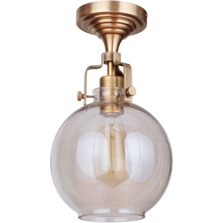 Craftmade Gallery State House 1 Light Semi Flush in Vintage Brass X8308-VB-C