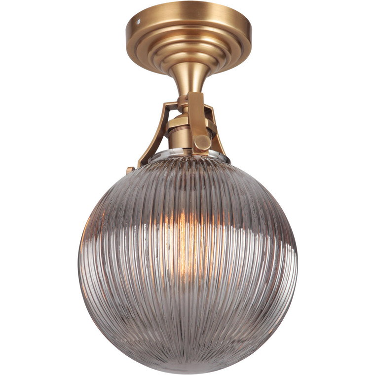 Craftmade Gallery State House 1 Light Semi Flush in Vintage Brass X8326-VB