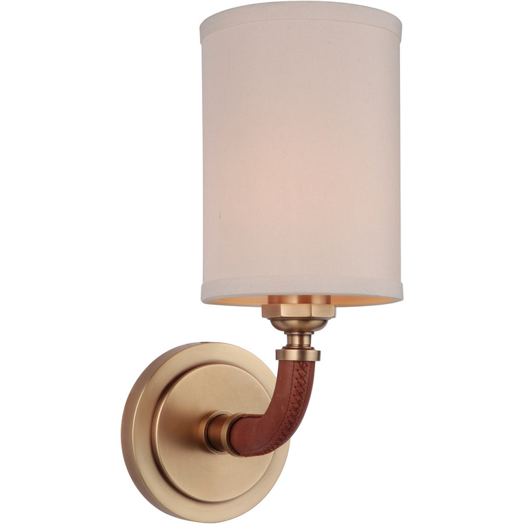 Craftmade Gallery Huxley 1 Light Wall Sconce in Vintage Brass 48161-VB