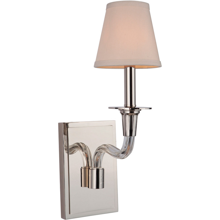 Craftmade Gallery Deran 1 Light Wall Sconce in Polished Nickel 48061-PLN