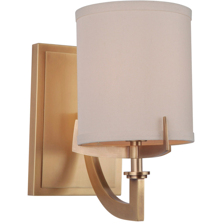 Craftmade Gallery Devlyn Wall Sconce 1 Light Vintage Brass 48361-VB