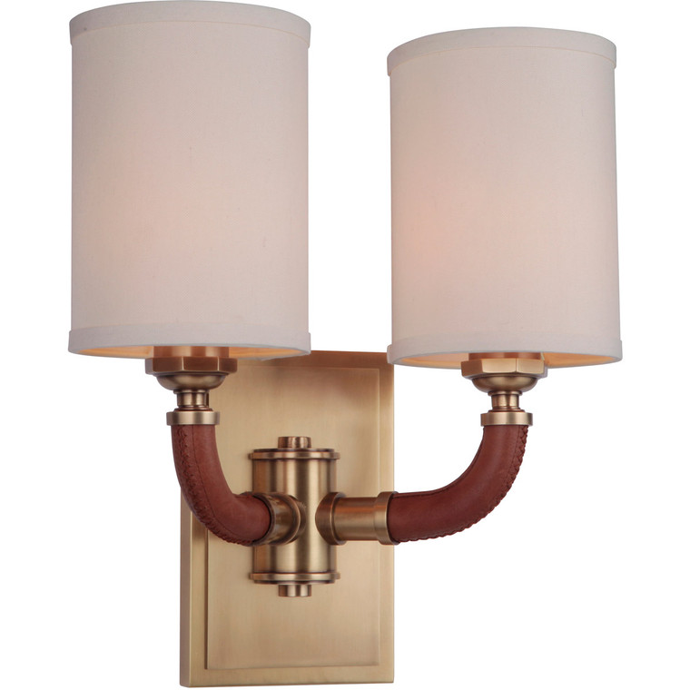 Craftmade Gallery Huxley 2 Light Wall Sconce in Vintage Brass 48162-VB