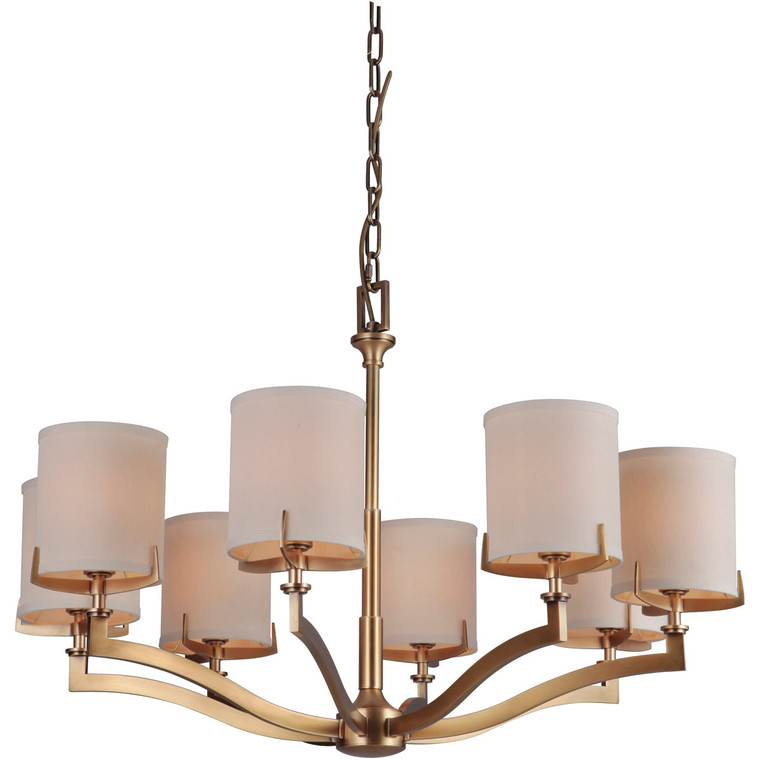 Craftmade Gallery Devlyn Chandelier 8 Light Vintage Brass 48328-VB