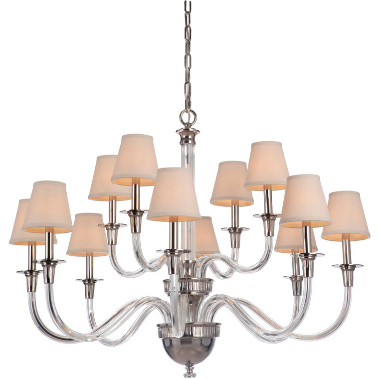 Craftmade Gallery Deran 12 Light Chandelier in Polished Nickel 48012-PLN