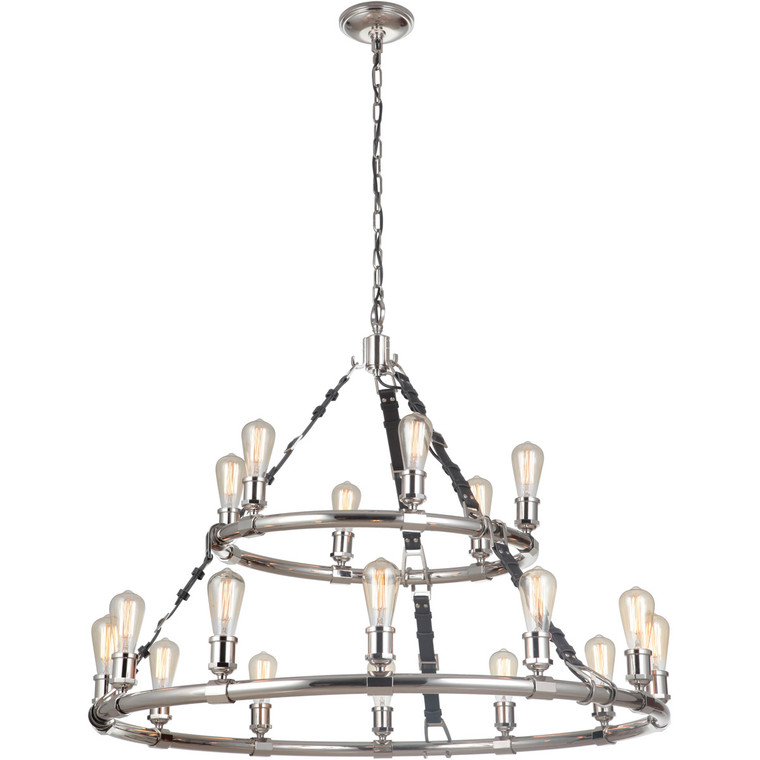 Craftmade Gallery Huxley 18 Light Chandelier in Polished Nickel 48118-PLN