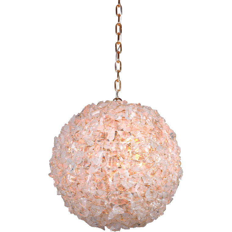Craftmade Gallery Roxx 3 Light Pendant w/ Chain in Gilded 48493-GLD