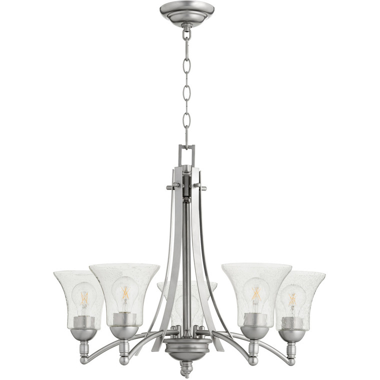 Quorum Aspen Chandelier in Classic Nickel 6177-5-64