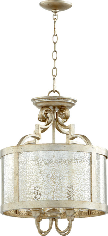 Quorum Champlain Dual Mount in Aged Silver Leaf 2881-16-60