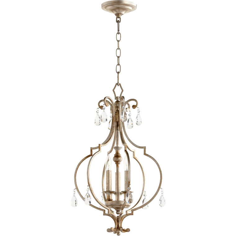 Quorum Ansley Entry in Aged Silver Leaf 6714-3-60