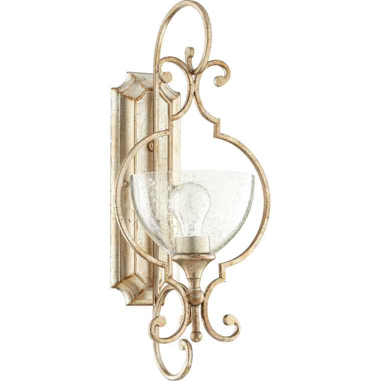 Quorum Ansley Wall Mount in Aged Silver Leaf 5414-1-60