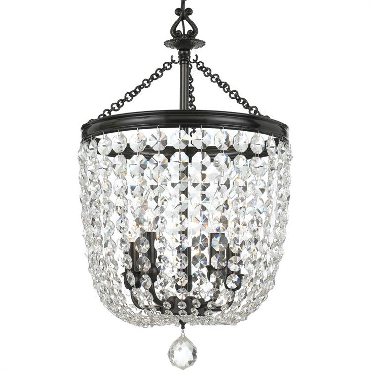 Crystorama Archer 5 Light Swarovski Vibrant Bronze Chandelier 785-VZ-CL-S