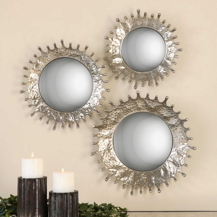 Uttermost Rain Splash Round Mirrors, S/3 12903