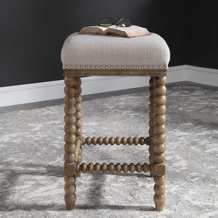 Uttermost Pryce Wooden Counter Stool 23495